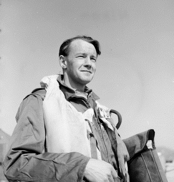 Flight Lieutenant (Flt Lt) Maxwell (Max) Scannell, attached to No. 77 Squadron RAAF at a forward United Nations (UN) airfield. Flt Lt Scannell trained the RAAF pilots to become qualified to fly Gloster Meteor F.8 jet aircraft which replaced the Mustang P51 aircraft previously operated by the Squadron. Australian War Memorial DUKJ4027