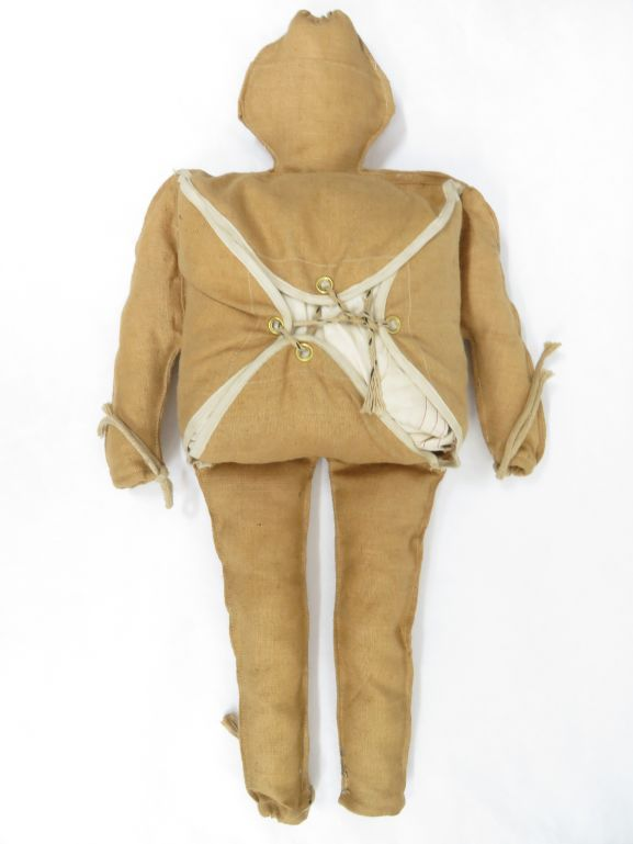 1985/067 Decoy dummy, 'Rupert', of the type used to confuse German defences on D-Day (2 images, front and back.