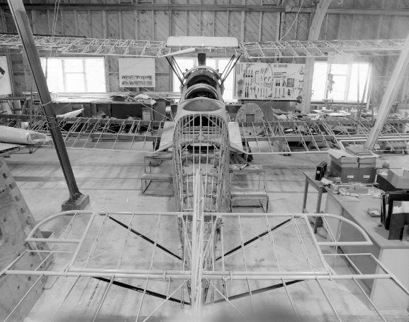 Avro 626 NZ203 under restoration at RNZAF Base Ohakea.