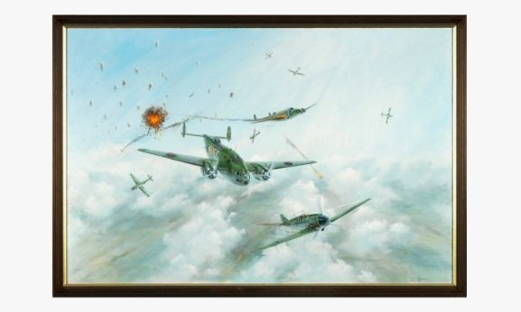 Painting of aircraft warfare