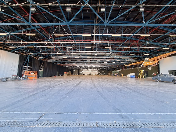 The Aircraft Hall, empty for the first time in 34 years. 3 May 2021. Image: Air Force Museum of New Zealand.
